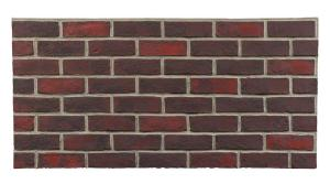 Dark Red Gray Grout